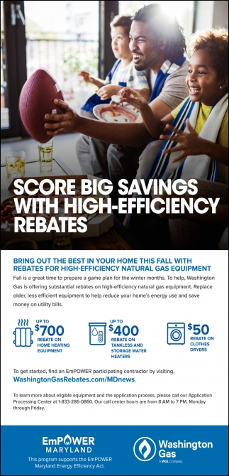Score Big Savings with High-Efficiency Rebates