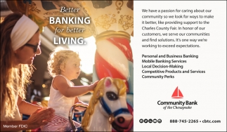 Better Banking for Better Living.