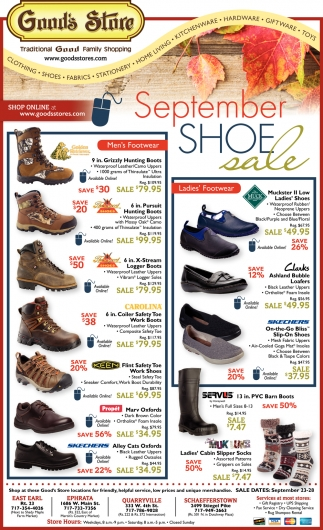 September Shoe Sale