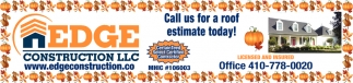 Call Us for a Roof Estimate Today