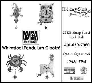 Whimsical Pendulum Clocks