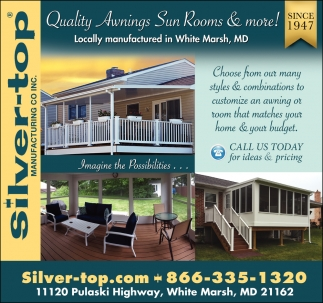 Quality Awnings Sun Rooms & More
