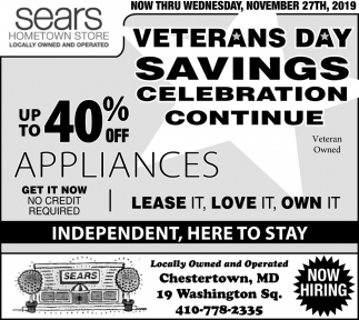 Veterans Day Savings