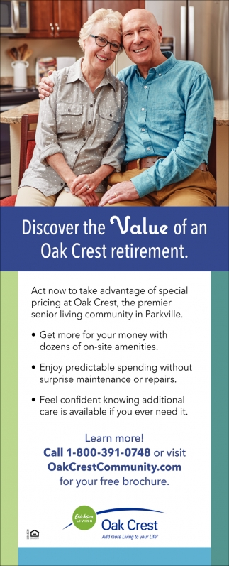 Discover the Value of an Oak Crest Retirement