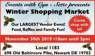 Winter Shopping Market (November 30, 2019) - Events with Gyn