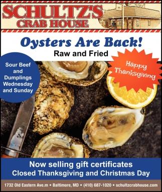 Oysters Are Back