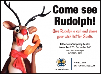 Come See Rudolph!