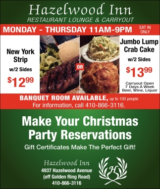 Make Your Christmas Party Reservations