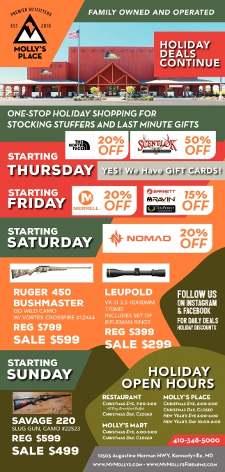 Holiday Deals Continue