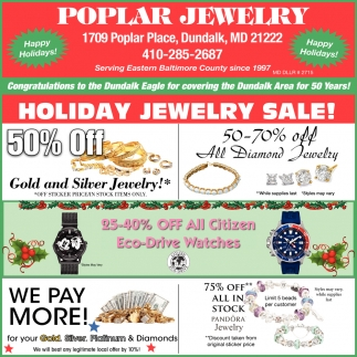Holiday Jewelry Sale!