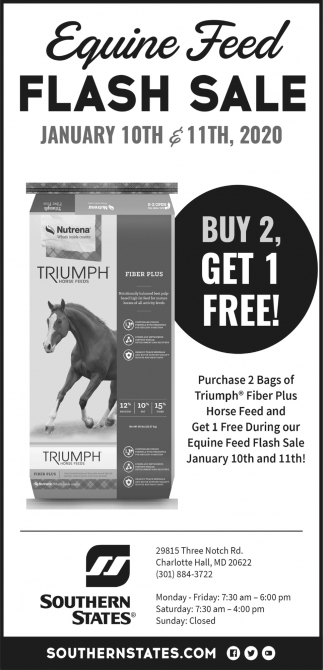 Equine Feed Flash Sale