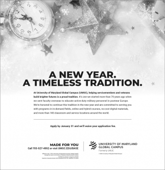 A New Year. A Timeless Tradition.