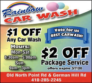 $1 OFF Any Car Wash