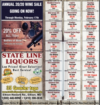 Annual 20/20 Wine Sale