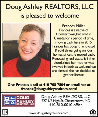 Welcome Frances Miller