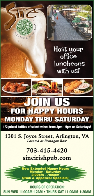 Join Us for Happy Hours