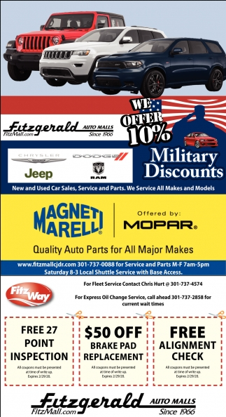 We Offer 10% Military Discounts