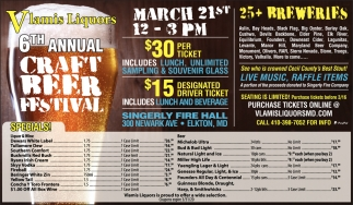 6th Annual Craft Beer Festival