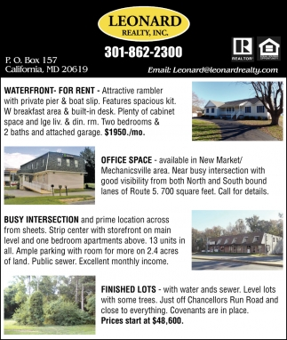 Waterfront for Rent