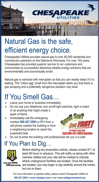 Natural Gas is the Safe, Efficient Energy choice