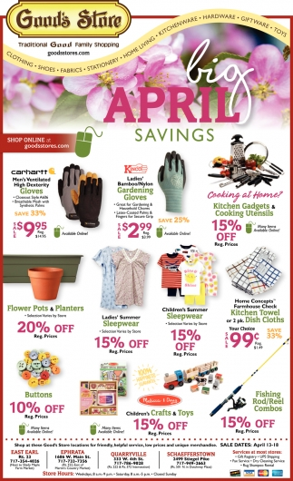 Big April Savings
