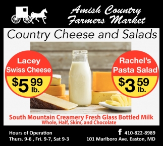 Country Cheese and Salads