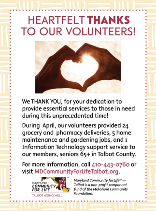 Heartfelt Thanks To Our Volunteers