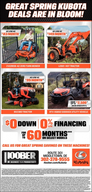 Great Spring Kubota Deals Are In Bloom