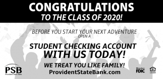 Congratulations To The Class of 2020!