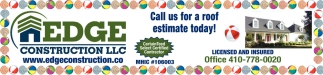 Call Us For a Roof Estimate Today!