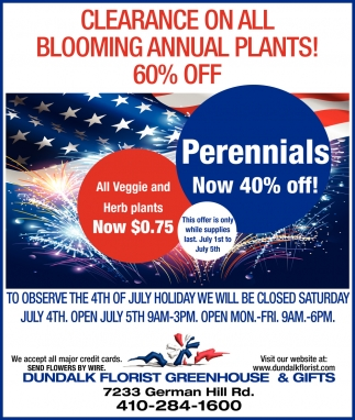 Blooming Annual Plants 60% OFF