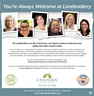 You're Always Welcome at Londonderry