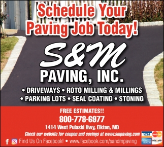 Schedule Your Paving Job Today!