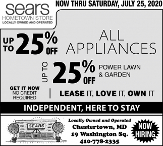 Up To 25% OFF Select Appliances