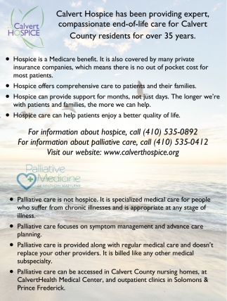 Expert Care for Calvert County Residents
