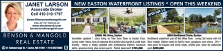 New Easton Waterfront Listings