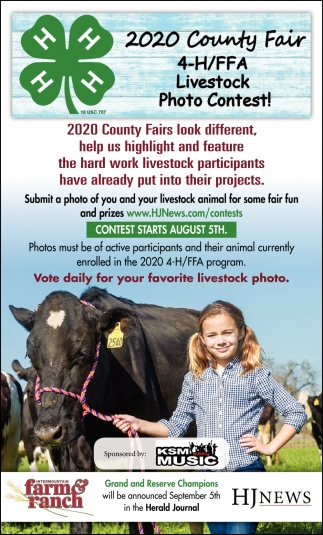 2020 County Fair 4-H/FFA Livestock Photo Contest!