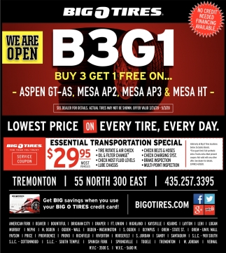 Lowest Price On Every Tire, Every Day