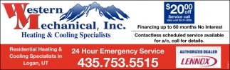 Heating & Cooling Specialists