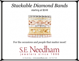 Stackable Diamonds Bands