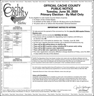 Official Cache County Public Notice