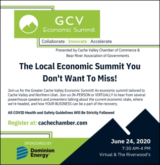The Local Economic Summit You Don't Want To Miss!