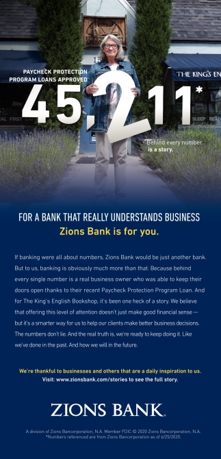 Zions Bank Is For You.