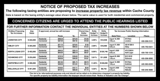 Notice of Proposed Tax Increases
