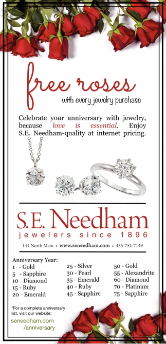 Free Roses With Every Jewelry Purchase
