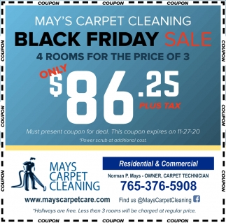 Black Friday Sale Mays Carpet Cleaning