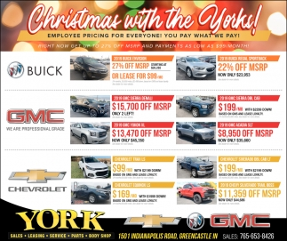 Christmas With Yorks York Chevrolet Buick Gmc Greencastle In