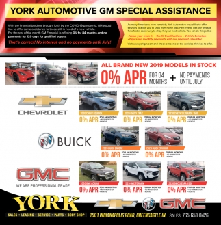 York Automotive Gm Special Assistance York Chevrolet Buick Gmc Greencastle In