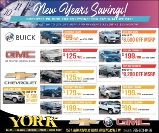 New Year's Savings!