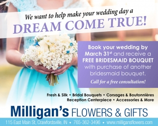 We Want to Help Make Your Wedding Day a Dream Come True!